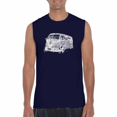 Los Angeles Pop Art Men's the 70's Sleeveless T-Shirt - Big and Tall
