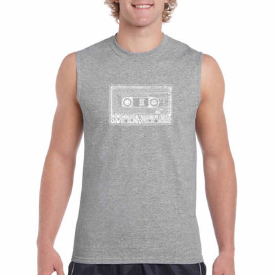 Los Angeles 80 s Sleeveless Word Art T-Shirt- Men's Big and Tall