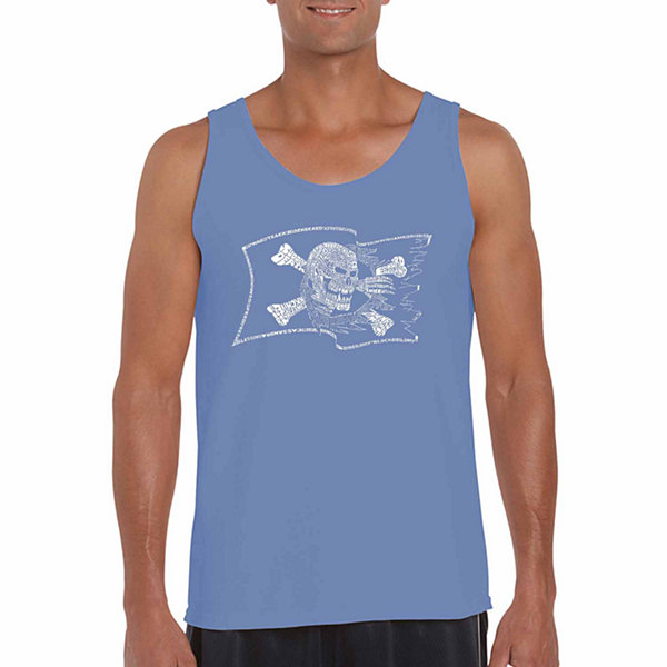Los Angeles Pop Art Pirate Flag Word Art Tank Top-Men's Big and Tall