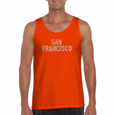 Los Angeles Pop Art Sanfrancisco neighborhoods Word Art Tank Top- Men's Big and Tall