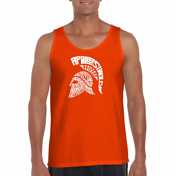 "Los Angeles Pop Art ""Spartan"" Word Art Tank Top- Men's Big and Tall"""