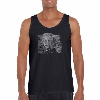 "Los Angeles Pop Art ""Marktwain"" Word Art Tank Top-Men's Big and Tall"""