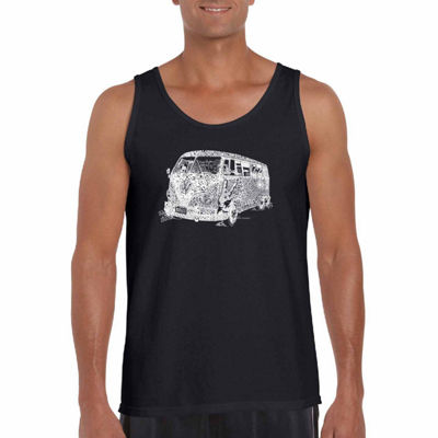 "Los Angeles Pop Art ""The70S"" Word Art Tank Top- Men's Big and Tall"""