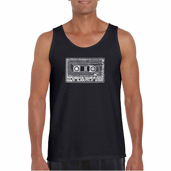 Los Angeles Pop Art The 80's Word Art Tank Top- Men's Big and Tall