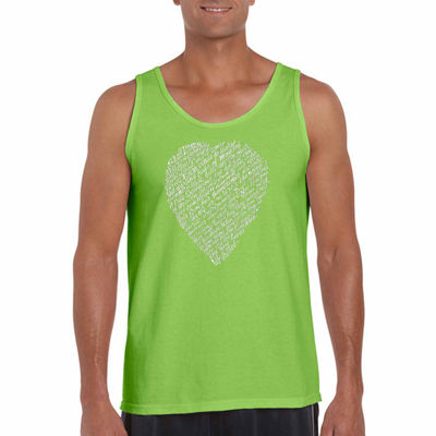 "Los Angeles Pop Art ""William Shakespeares Sonnet 18"" Word Art Tank Top- Men's Big and Tall"""