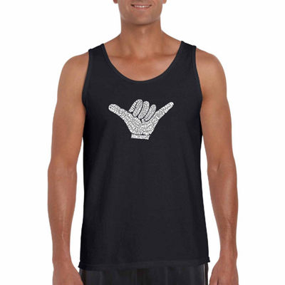 "Los Angeles Pop Art ""Top World Wide Surfing Spots""Word Art Tank Top- Men's Big and Tall"""