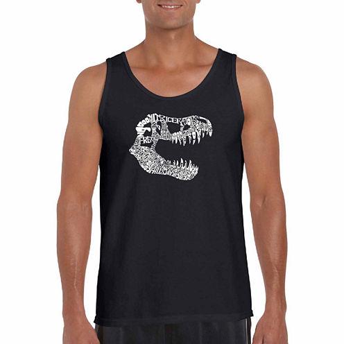 "Los Angeles Pop Art Short Sleeve ""Trex"" T-Shirt-Big And Tall"