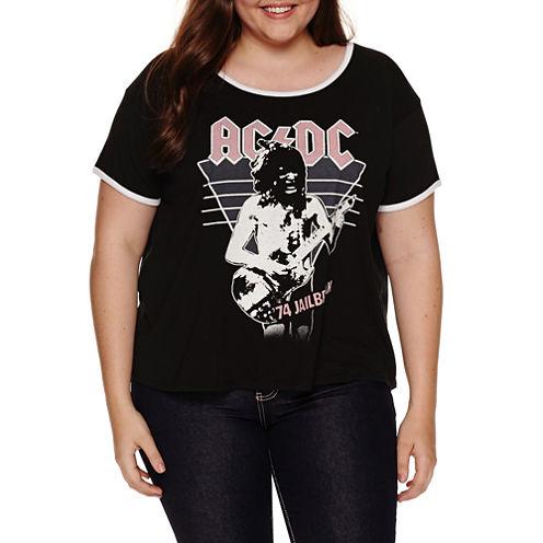 ACDC Graphic T-Shirt- Juniors Plus