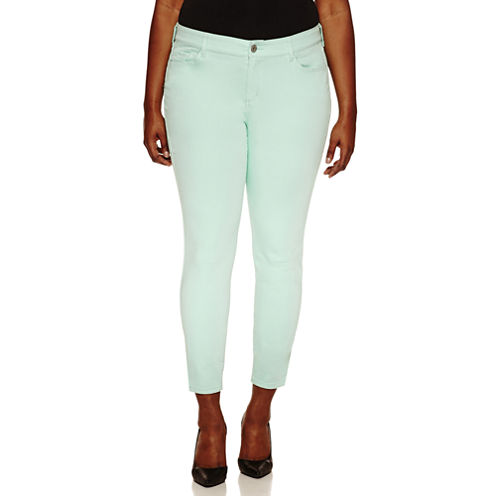 Arizona Skinny Fit Jeggings-Juniors Plus