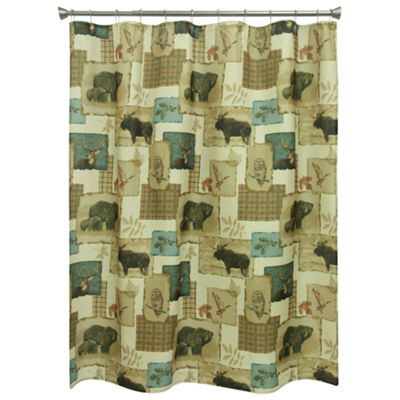 Bacova Guild Tetons Print Shower Curtain