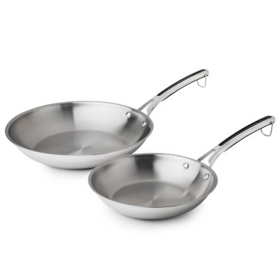"Revere Copper Confidence Core 2-pc. Stainless Steel 10"" & 12"" Frying Pan"