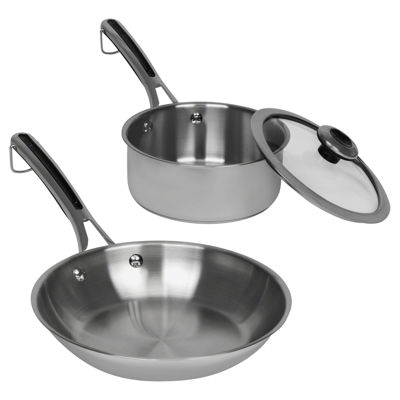Revere Copper Confidence Core 3-pc. Stainless Steel Frying Pan