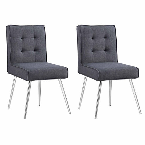 Astra Gray 2-pc. Tufted Fabric Slipper Chair