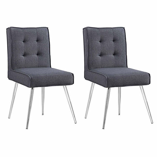 Astra Gray 2-pc. Tufted Slipper Chair