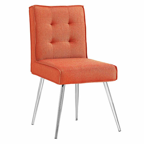 Astra Orange 2-pc. Tufted Fabric Slipper Chair