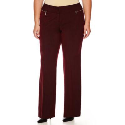 Worthington® Modern-Fit Zipper-Pocket Pants - Plus