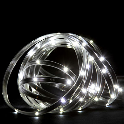18' Pure White LED Indoor/Outdoor Christmas LinearTape Lighting - Black Finish