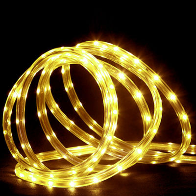 150' Commericial Grade Yellow LED Indoor/Outdoor Christmas Rope Lights on a Spool