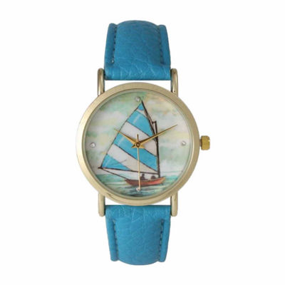Olivia Pratt Womens Blue Strap Watch-15009blue