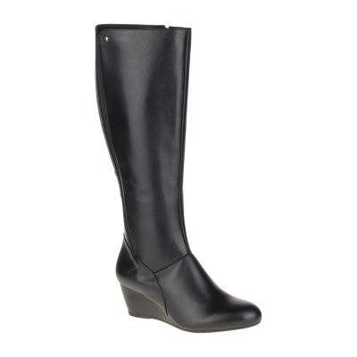 Hush Puppies Womens Pynical Rhea Riding Boots Wedge Heel Zip