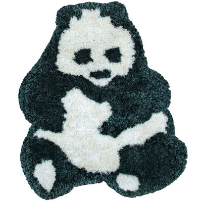 Rizzy Home Commons Collection Mariah Panda Bear Rug