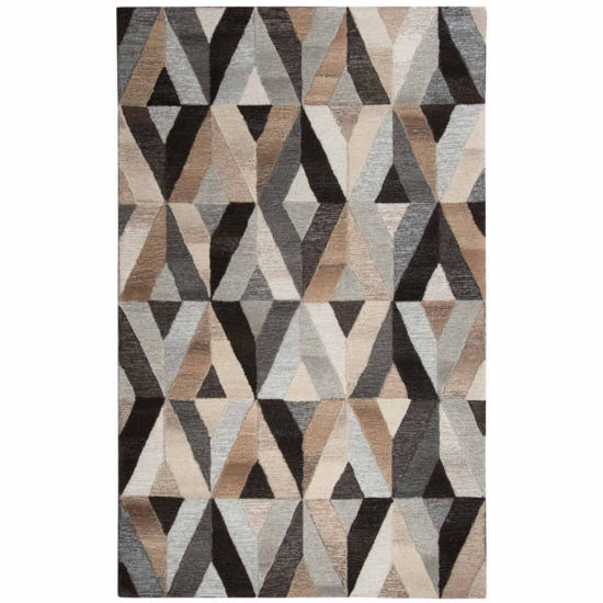 Rizzy Home Suffolk Collection Diana Geometric Rectangular Rugs