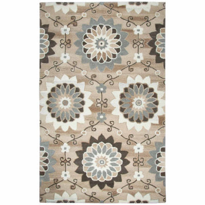 Rizzy Home Suffolk Collection Jane Floral Rectangular Rugs