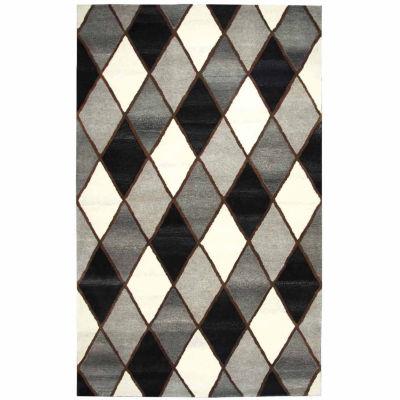 Rizzy Home Suffolk Collection Lyric Diamond Rectangular Rugs
