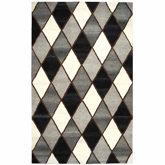 Rizzy Home Suffolk Collection Lyric Diamond Rectangular Rugs