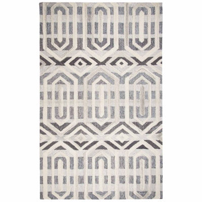Rizzy Home Suffolk Collection Ruth Miriam Geometric Rectangular Rugs