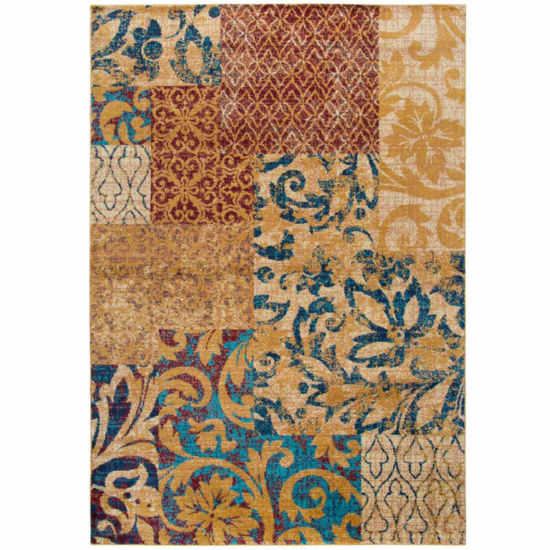 Rizzy Home Xceed Collection Kyla Patchwork Rectangular Rugs