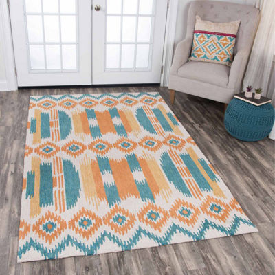 Rizzy Home Zingaro Collection Mallory Stripe Rectangular Rugs