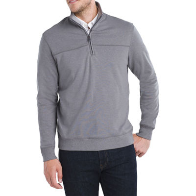 Van Heusen Mens Long Sleeve Quarter-Zip Pullover