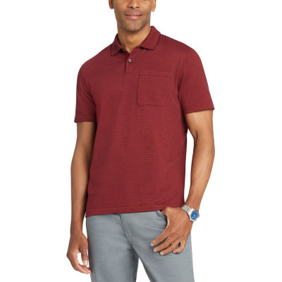 Van Heusen Short Sleeve Stripe Polo Shirt