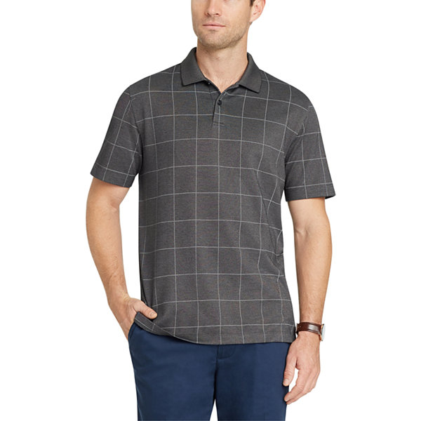 Van heusen short sleeve flex natural stretch polo shirt for Jcpenney ladies polo shirts