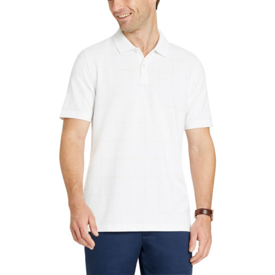 Van Heusen Short Sleeve Flex Natural Stretch Polo Shirt