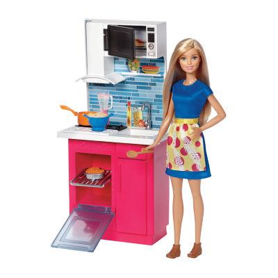 Barbie Doll & Kitchen Playset