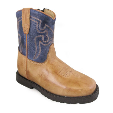Smoky Mountain Kid's Autry Bomber Leather Cowboy Boot Toddler