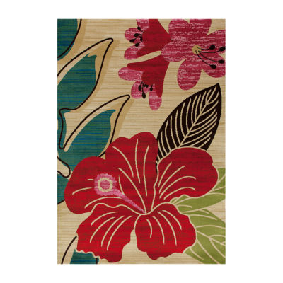 Art Carpet Antigua Hibiscus Woven Rectangular Runner