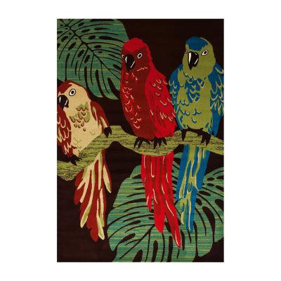Art Carpet Antigua Parrots Woven Rectangular Runner