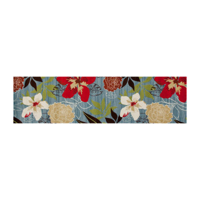 Art Carpet Antigua Tropical Floral Woven Rectangular Runner