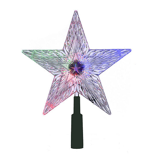 "Kurt Adler 8.5"" Color-Changing Star LED Lighted Treetopper"