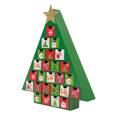 Glitzhome Tree With Drawer Advent Calendar