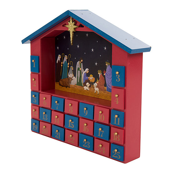 Glitzhome House With Drawer Religious Advent Calendar