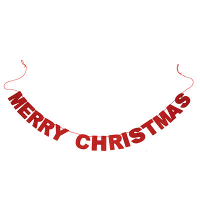 Glitzhome Glittery Merry Indoor Christmas Garland