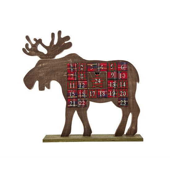Glitzhome Reindeer Religious Advent Calendar