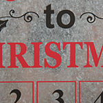 Glitzhome 18 Inch Galvanized Advent Calendar