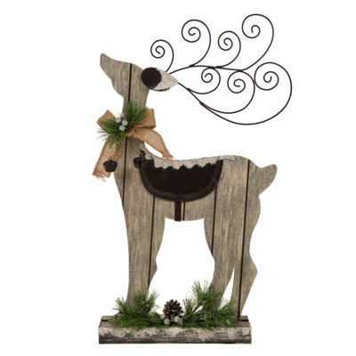Glitzhome 22 Inch Reindeer Tabletop Decor