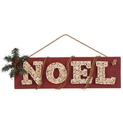 Glitzhome 20 Inch Noel Wall Sign