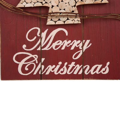 Glitzhome 20 Inch Christmas Tree Wall Sign